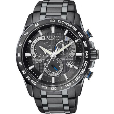 Citizen Chrono Perpetual A-T Herrenchronograph in Schwarz AT4007-54E