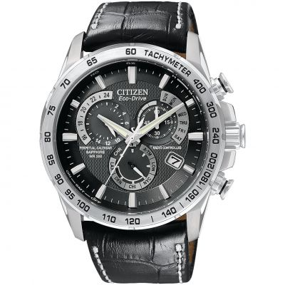 Citizen Chrono Perpetual A-T Herrkronograf Svart AT4000-02E
