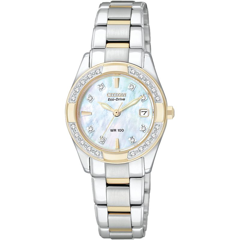 Ladies Citizen Eco-drive Regent Two-tone steel/gold plate Watch EW1824-57D