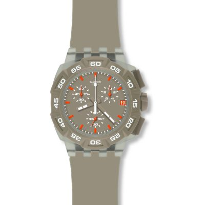 Swatch Chrono Plastic Beige Hero Unisexchronograph in Braun SUIT400