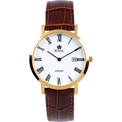 Royal London Herenhorloge Bruin 40007-02