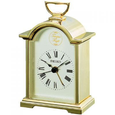 Seiko Clocks Carriage Mantel Alarm Clock QHE004G