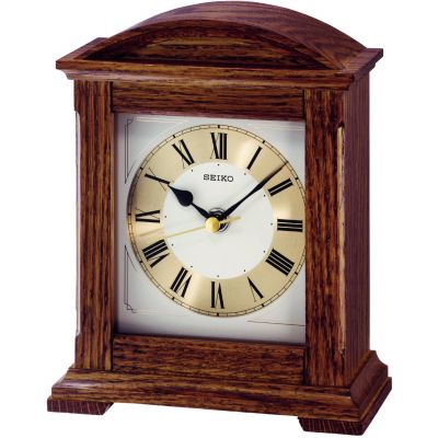 Radio controlled wooden mantel clocks