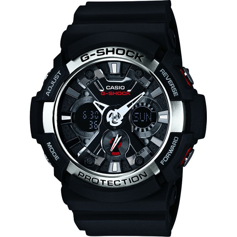 Mens Casio G-Shock Alarm Chronograph Watch GA-200-1AER