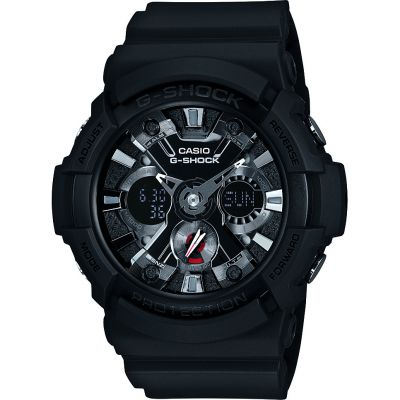 Mens Casio G-Shock Alarm Chronograph Watch GA-201-1AER