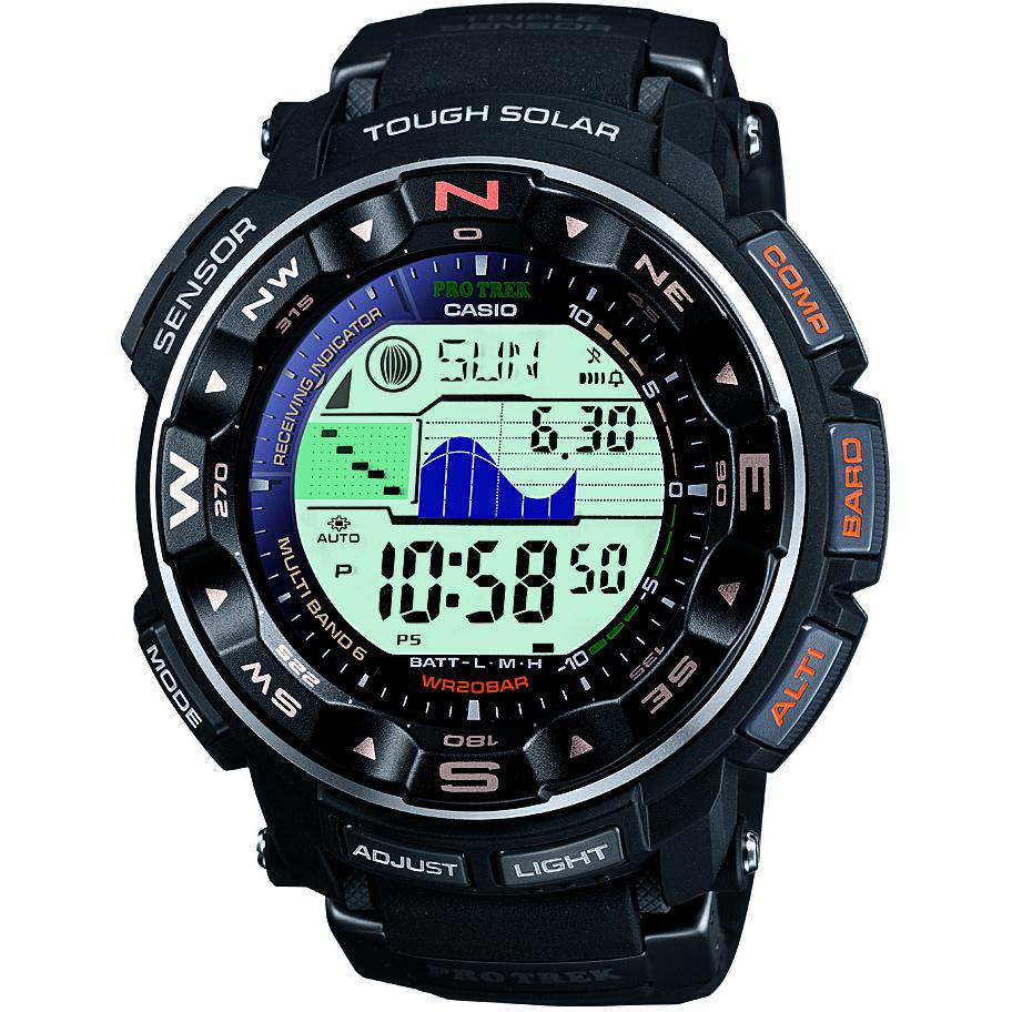 Gents Casio Pro Trek Alarm Chronograph Watch Prw 2500 1er