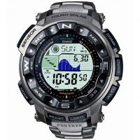 Mens Casio Pro Trek Titanium Alarm Chronograph Radio Controlled Watch PRW-2500T-7ER
