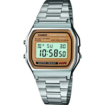 Casio Classic Unisexchronograph in Silber A158WEA-9EF