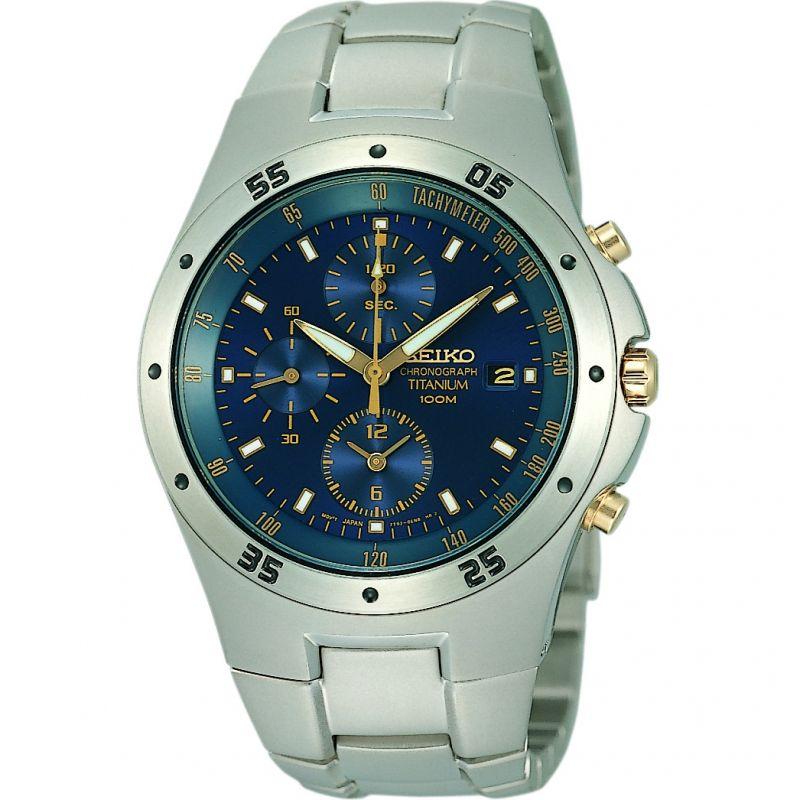 Mens Seiko Titanium Chronograph Watch
