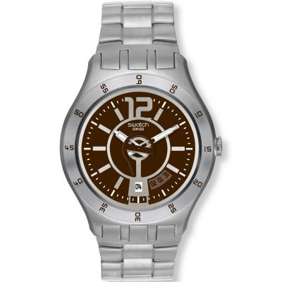Swatch In A Brown Mode Herenhorloge Zilver YTS406G