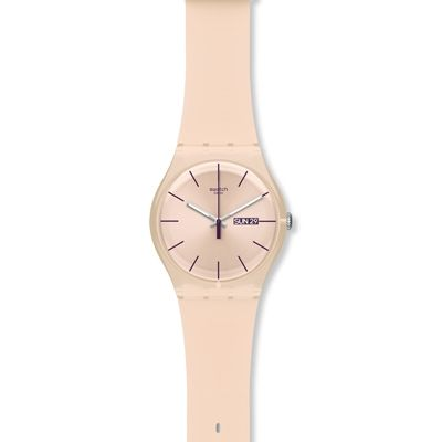Swatch Originals New Gent Rose Rebel Unisexuhr in Pink SUOT700