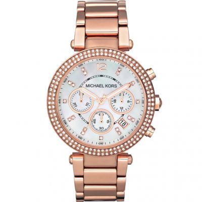 e936461b37f6 Ladies Michael Kors Parker Chronograph Watch MK5491