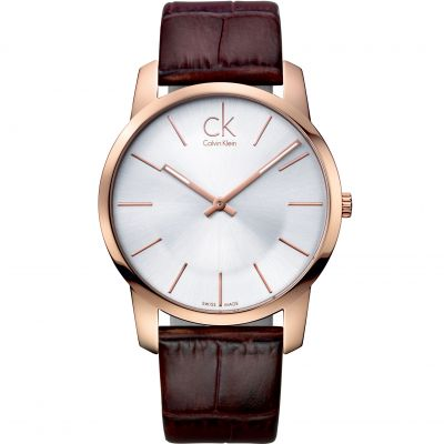Calvin Klein City Herrenuhr in Braun K2G21629