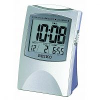 Seiko Clocks LCD Desk Alarm Clock QHL005S