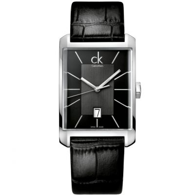 Mens Calvin Klein Window Watch K2M21107