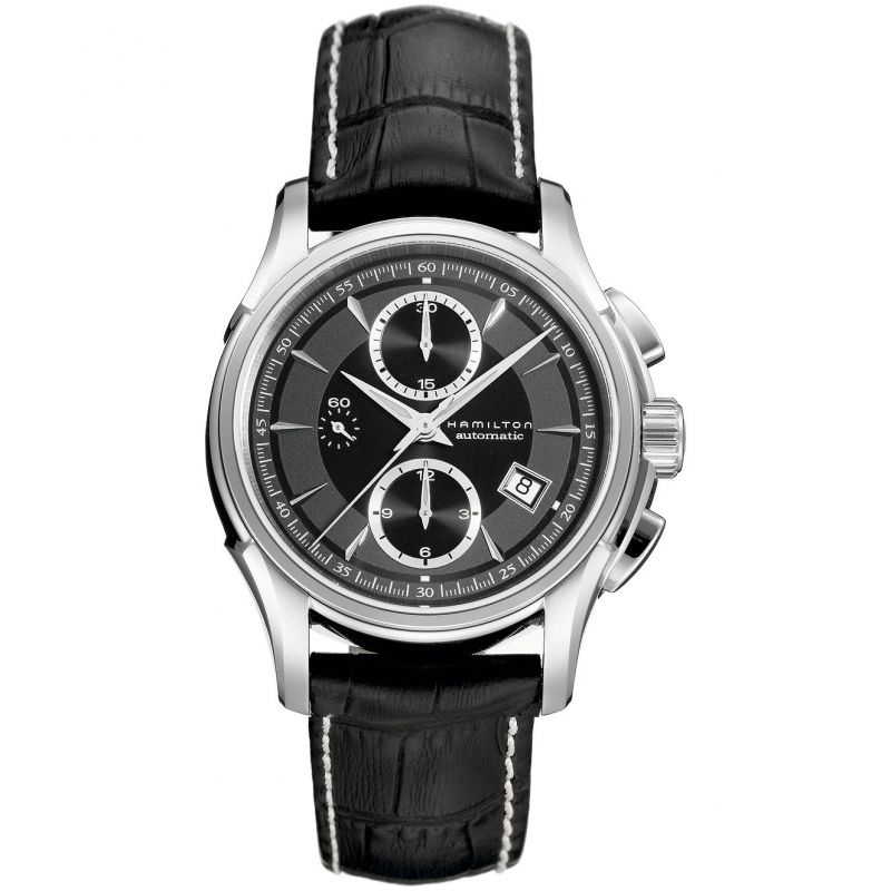 Mens Hamilton Jazzmaster Automatic Chronograph Watch H32616533