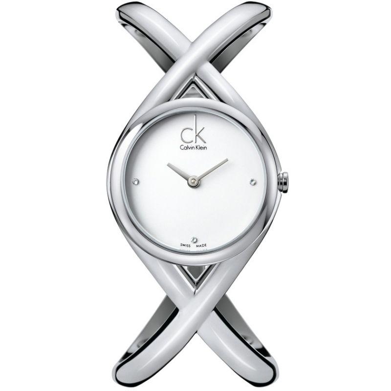 Ladies Calvin Klein Enlace Small Diamond Watch