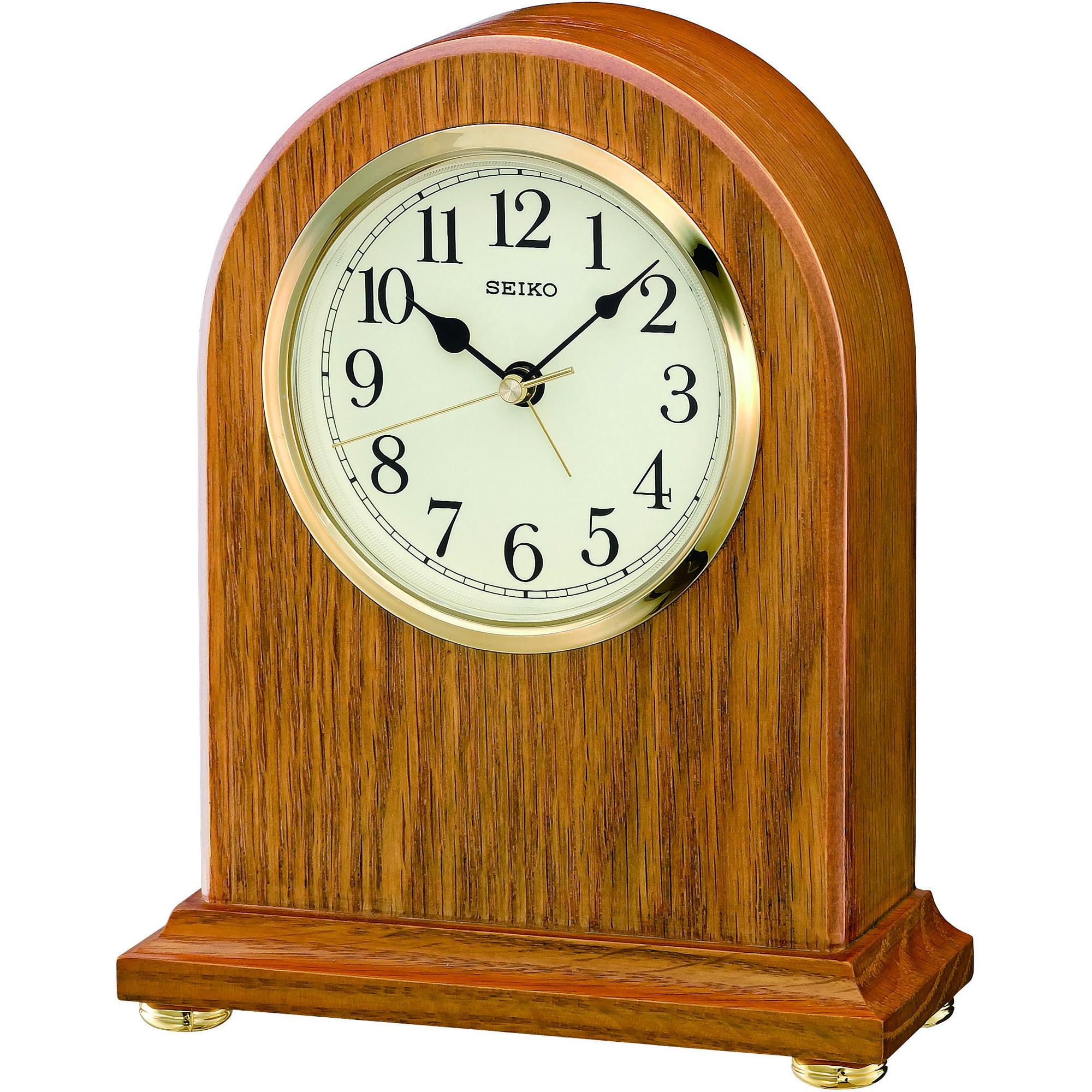 clock seiko clocks wooden mantel clock alarm watch qxe031b rh watchshop com Art Deco Mantel Clocks Pendulum Clock