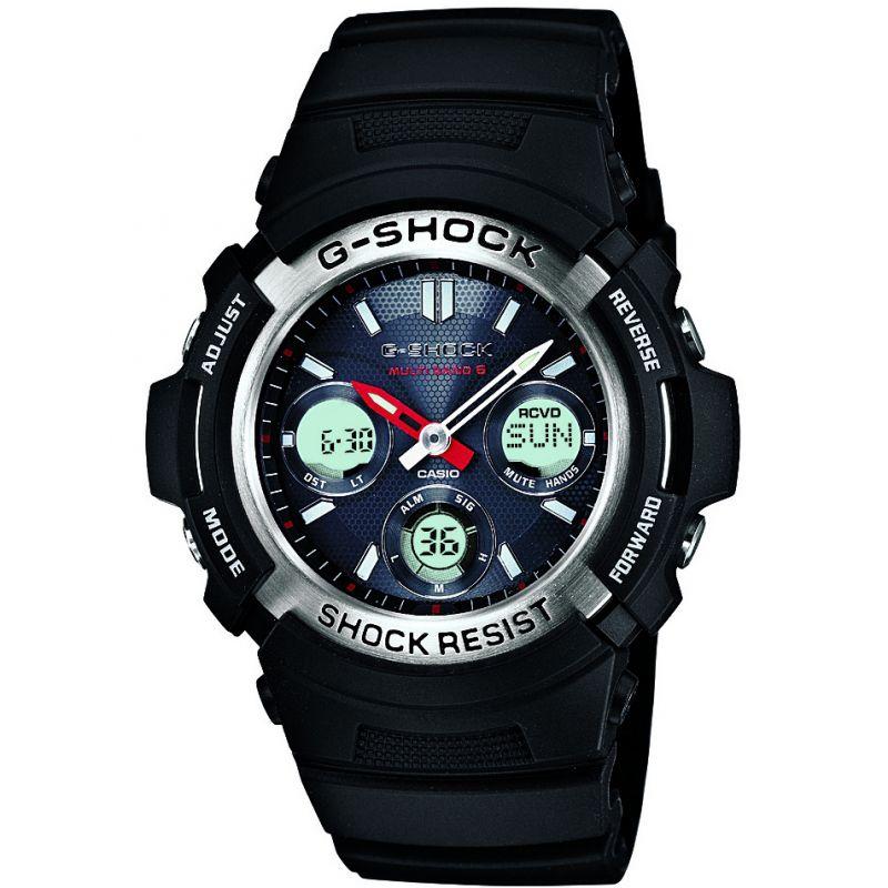 Mens Casio G-Shock Waveceptor Alarm Chronograph Radio Controlled Solar Powered Watch