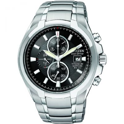 Mens Citizen Titanium Chronograph Watch CA0260-52E