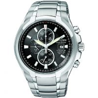 Mens Citizen Titanium Chronograph Eco-Drive Watch