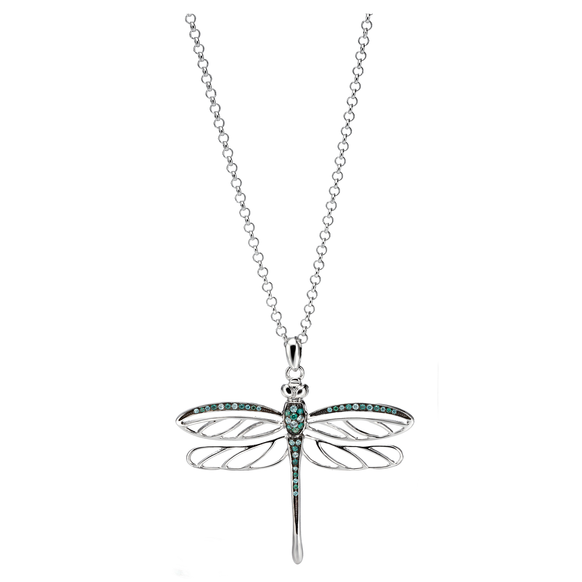 silver dragonfly b bamboo pendant samuel gold and products sterling