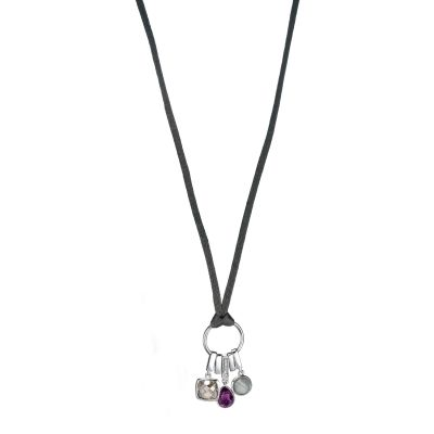 Ladies Fiorelli Sterling Silver Satin Necklace N3303