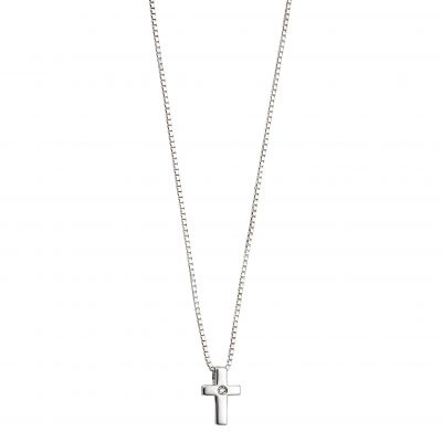 Biżuteria dziecięca D For Diamond Cross Necklace P800