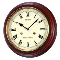 Seiko Clocks Wooden Chiming Wall Clock QXH202B