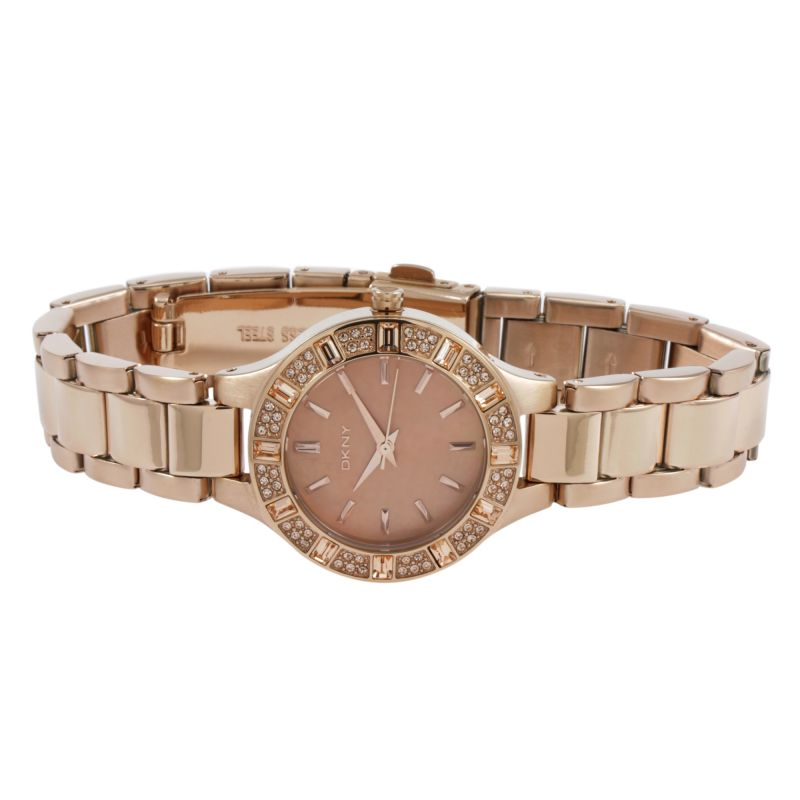 DKNY Womens NY8486 CHAMBERS Rose Gold Watch