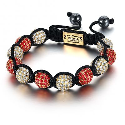 Bijoux Unisexe Shimla Red And White Bracelet Small SH-027S