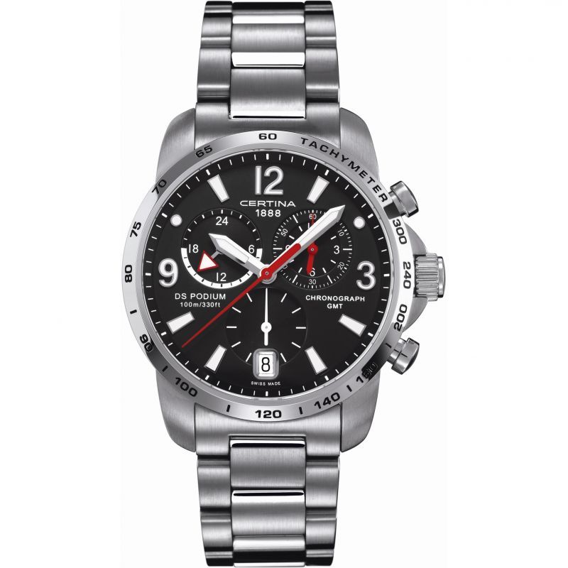 Mens Certina DS Podium GMT Chronograph Watch C0016391105700