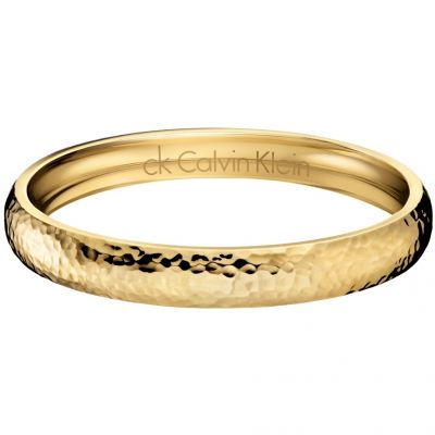 Ladies Calvin Klein PVD Gold plated Small Dawn Bangle KJ68BB02020S