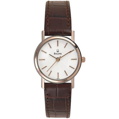Bulova Dress Damklocka Brun 98V31