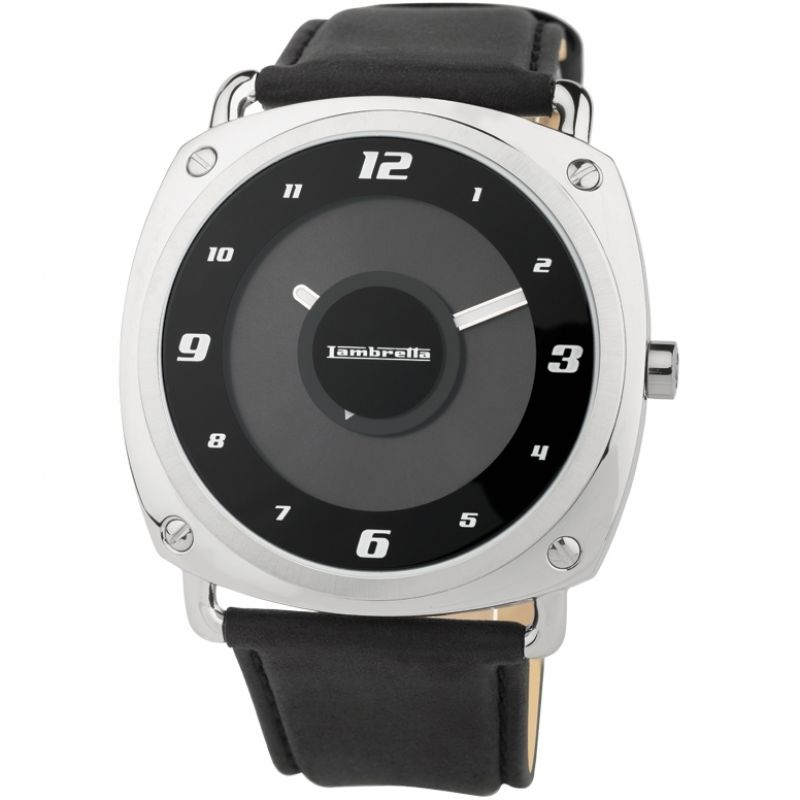 Mens Lambretta Brunori Leather Watch