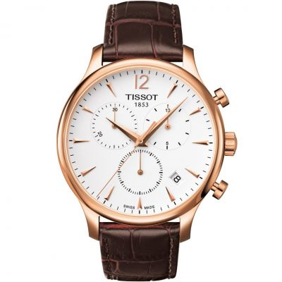 Tissot T-Classic Tradition Herrenchronograph in Braun T0636173603700