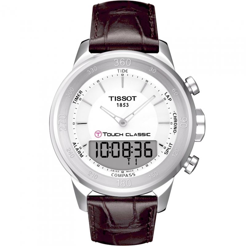 Mens Tissot T-Touch Classic Alarm Chronograph Watch T0834201601100