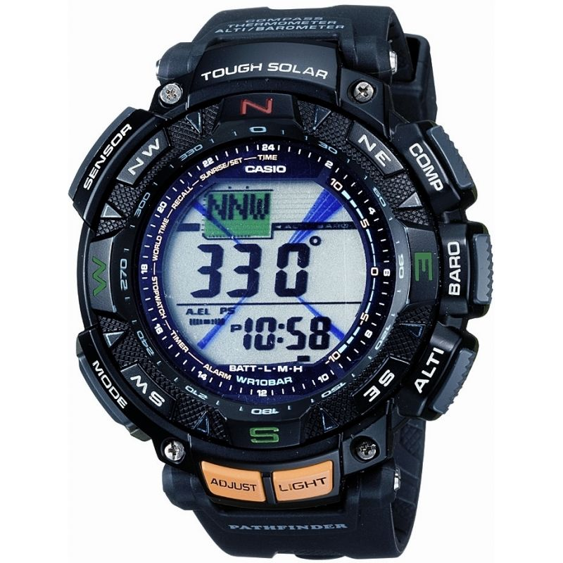 Mens Casio Pro Trek Alarm Chronograph Solar Powered Watch