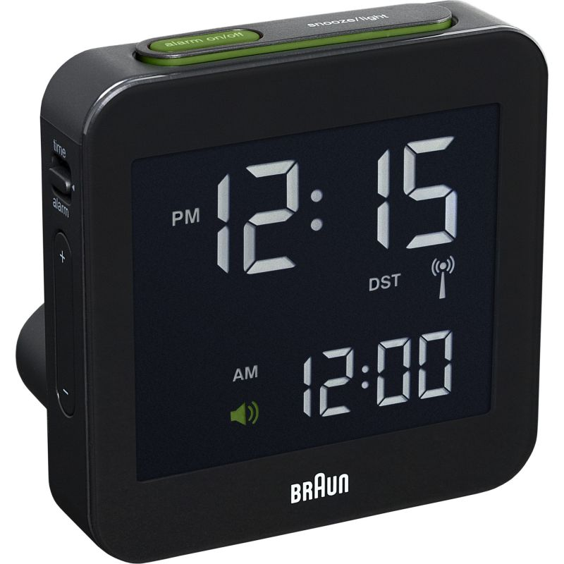 Braun Clocks Travel Clock Klockaklocka Svart BNC009BK-RC