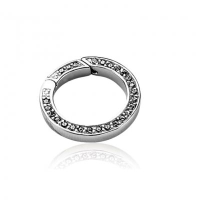 Ladies Zinzi Sterling Silver Lock With CZ 22mm ZI355Z
