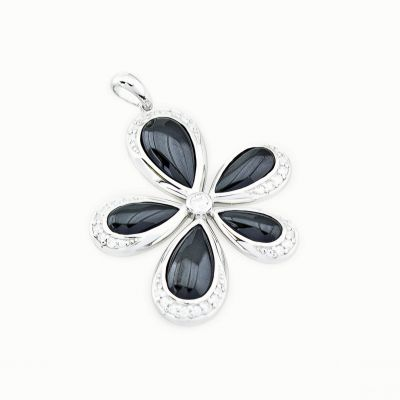 Ladies Zinzi Sterling Silver Flower Pendant ZIH659