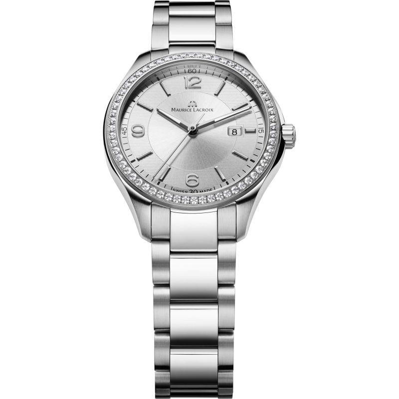Ladies Maurice Lacroix Miros Date Diamond Watch