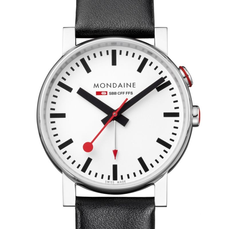 Mens Mondaine Swiss Railways Alarm Watch