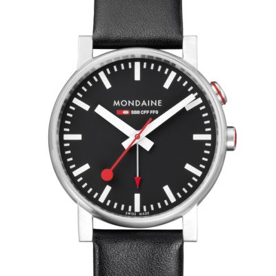 Mens Mondaine Swiss Railways Alarm Watch A4683035214SBB
