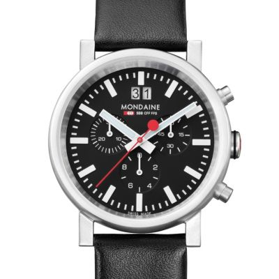 Mens Mondaine Swiss Railways Chronograph Watch A6903030414SBB