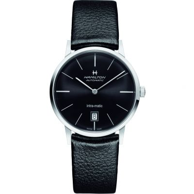 Hamilton Intra-Matic 38mm Herrenuhr in Schwarz H38455731