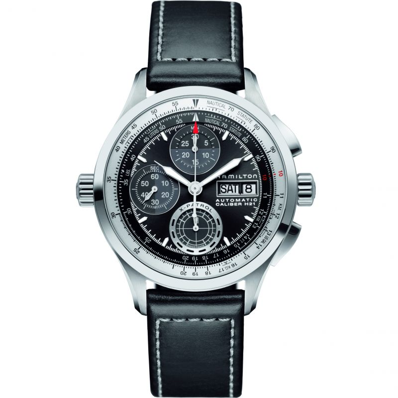 Mens Hamilton Khaki X-Patrol Automatic Chronograph Watch