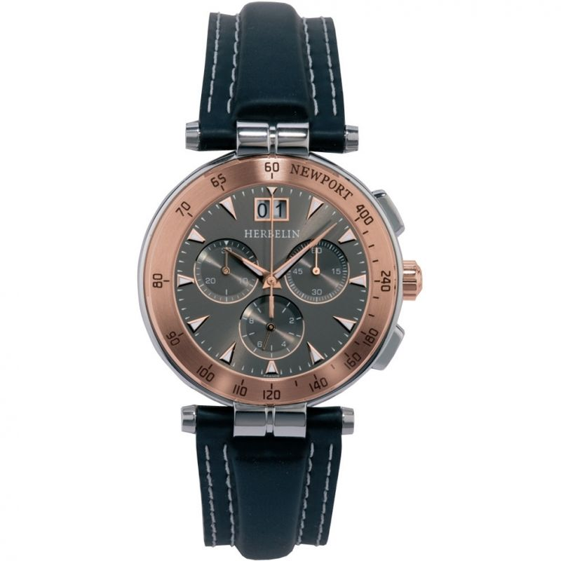 Mens Michel Herbelin Newport Marine Chronograph Watch