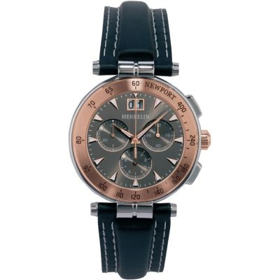 Mens Michel Herbelin Newport Marine Chronograph Watch 36657/TR22GR
