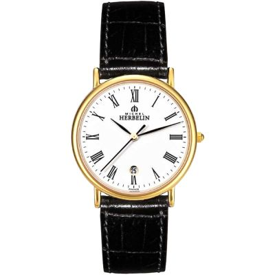 Michel Herbelin Citadines Herrenuhr in Schwarz 12443/P01